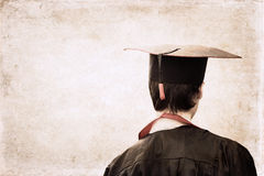 Graduation. Artwork  in retro  style, graduation Stock Photography