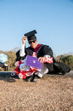 Graduation asia men Royalty Free Stock Photo