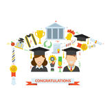 Graduation Award Elements Concept Stock Photos