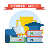Graduation Awards Concept Vector Illustration Royalty Free Stock Image