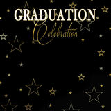 Graduation Background - Black/Gold, Stars Royalty Free Stock Images