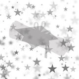 Graduation Background - Gray/White Stars Stock Photography