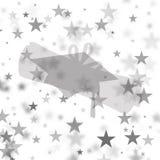Graduation Background - Gray/White Stars Stock Photography