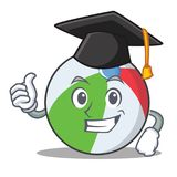 Graduation ball character cartoon style Royalty Free Stock Image
