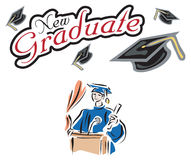 Graduation banner poster Royalty Free Stock Image