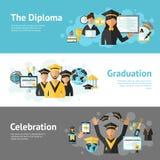 Graduation Banner Set Stock Images