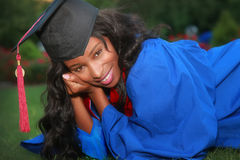 Graduation. Beautiful young woman on graduation day Royalty Free Stock Photography