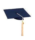 Graduation blue cap Stock Photo