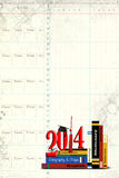 Graduation 2014 on books Stock Images
