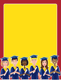 Graduation Border Royalty Free Stock Images
