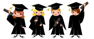 Graduation Boy Girl isolated Stock Image