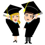 Graduation Boy Girl Royalty Free Stock Photo