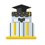 Graduation Cake Flat Vector Icon Royalty Free Stock Photo