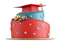 Graduation cake Stock Images