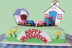 School Graduation Cake For A Child Royalty Free Stock Photography