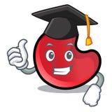 Graduation candy moon character cartoon royalty free illustration