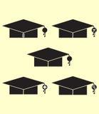 Graduation cap. Symbolising different disciplines Stock Images