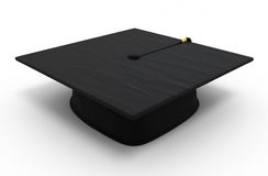 Graduation cap. Render ( on white and clipping path Royalty Free Stock Image