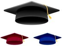 Graduation Cap. In 3 colors Royalty Free Stock Photos