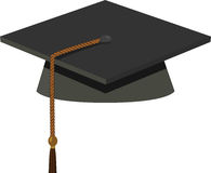 Graduation Cap - Black Mortarboard Royalty Free Stock Photos
