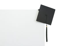 Graduation cap on blank billboard Stock Photography