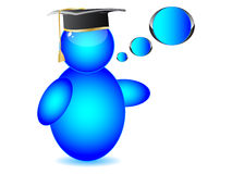 Graduation cap on Buddy. Icon vector illustration royalty free illustration