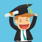 Graduation cap and cartoon  icon. University design. Vector grap Royalty Free Stock Images