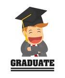 Graduation cap and cartoon  icon. University design. Vector grap Royalty Free Stock Photos