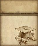 Graduation cap and diploma Royalty Free Stock Photos
