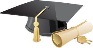 Graduation cap and diploma Stock Photography