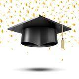 Graduation cap, education concept background Royalty Free Stock Photo