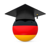 Graduation Cap with German Flag Royalty Free Stock Photography