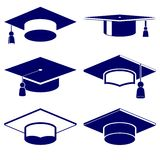 Graduation cap icon  set Stock Image