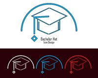 Graduate Cap on academy Vector design stock illustration