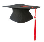 Graduation cap. Isolated on white background royalty free stock photo