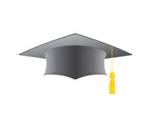 Graduation cap isolated on a white background Stock Photos