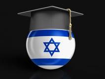 Graduation cap and Israeli flag Royalty Free Stock Photos