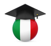 Graduation Cap with Italy Flag Royalty Free Stock Images