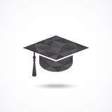 Graduation cap. Low poly design Royalty Free Stock Photography