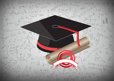 Graduation cap and mba Stock Image