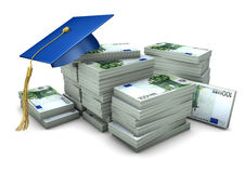 Graduation Cap Money Stock Photo