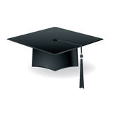Graduation Cap Mortar Board Isolated Illustration Stock Images