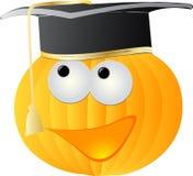 Graduation cap on pumpkin Stock Images