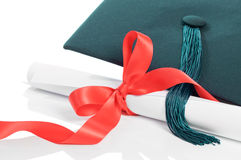 Graduation Cap & Scroll Stock Photography