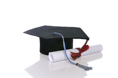 Graduation Cap And Scroll Royalty Free Stock Photo