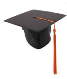 Graduation Cap and Tassel. A graduate's cap and tassel isolated on a white background Royalty Free Stock Photo