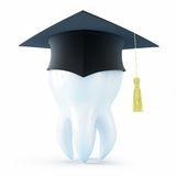 Graduation cap tooth Stock Image
