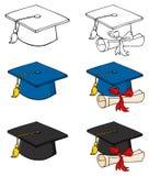 Graduation caps Royalty Free Stock Image