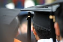 Graduation caps Royalty Free Stock Photo