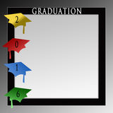 Graduation Caps Background - 2016 Royalty Free Stock Photos